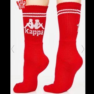 Red and White Kappa socks!